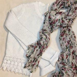 L.A. Hearts Cream Sweater